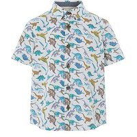 Boys, Monsoon David Dino Shirt, Ivory, Size 6-12 Months