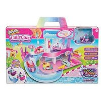 Shopkins Cutie Cars Shopkins Cutie Cars Splash 'N' Go Spa Wash Playset