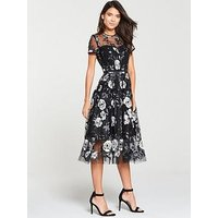 V By Very Lace Prom Dress - Mono