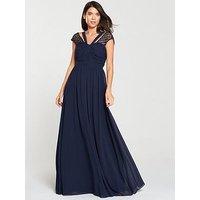 V By Very Bridesmaid Maxi Dress - Navy