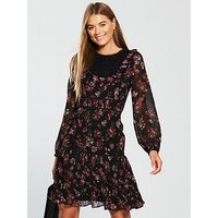 V by Very Drop Hem Dress - Printed , Print, Size 12, Women