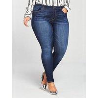 V by Very Curve Premium Ultrasoft Skinny Jean - Dark Wash, Dark Wash, Size 26, Length Regular, Women