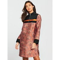 Maison Scotch Maison Scotch Sporty Colour Block Printed Dress