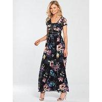 Little Mistress Petite Floral Maxi Dress, Multi, Size 8, Women