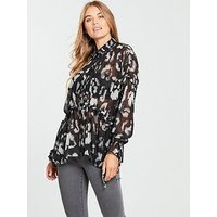 Religion Adorn Shirt, Print, Size 10, Women