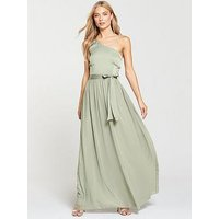 Little Mistress Little Mistress Waterlilly One Shoulder Maxi Dress, Waterlily, Size 16, Women