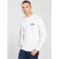 Vans Crossed Sticks Long Sleeve T-Shirt, White, Size L, Men