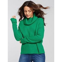 Michelle Keegan Oversized Chunky Knit - Green, Green, Size 16, Women