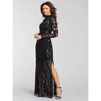 Michelle Keegan Embellished Maxi Dress - Black