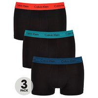 Calvin Klein 3pk Low Rise Trunk, Black, Size M, Men