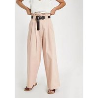 RI Plus Wide Leg Trouser - Pink, Light Pink, Size 4, Women