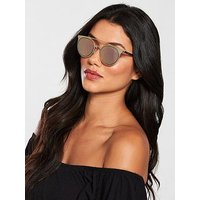 Emporio Armani Brow Bar Sunglasses - Bronze, Bronze, Women