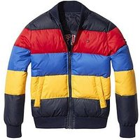 Tommy Hilfiger Boys Reversible Colour Block Padded Jacket, Navy, Size Age: 4 Years