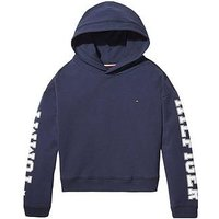 Tommy Hilfiger Girls Arm Logo Hoody, Navy, Size Age: 6 Years, Women