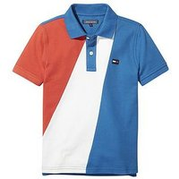 Tommy Hilfiger Boys Colourblock Polo, Multi, Size 8 Years