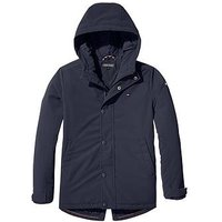 Tommy Hilfiger Boys Coated Hooded Parka, Navy, Size Age: 12 Years
