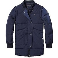 Tommy Hilfiger Girls Quilted Padded Jacket - Navy, Navy, Size 6 Years, Women