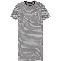 Tommy Hilfiger Girls Stripe Jersey Midi Dress, White/Navy, Size 16 Years, Women