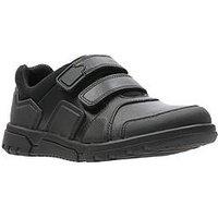 Clarks Blake Street Junior Shoe, Black, Size 13.5 Younger