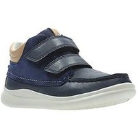 Clarks Cloud Tuktu Infant Boot, Navy, Size 7.5 Younger