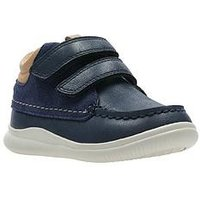 Clarks Cloud Tuktu Boys First Boots - Navy, Navy, Size 4 Younger