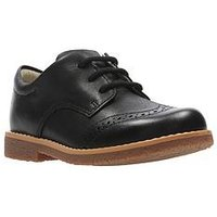 Clarks Boys Comet Heath Infant Shoe - Black, Black, Size 10 Younger
