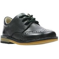 Clarks Comet Heath Boys First Shoes - Black, Black, Size 5 Younger