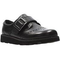 Clarks Crown Pride Infant Shoe, Black, Size 8.5 Younger