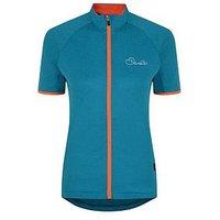 Dare 2b Ladies Cachet Cycle Jersey - Sea Breeze , Sea Breeze, Size 12, Women