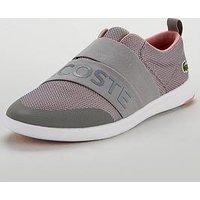 Lacoste Avenir Slip 318 2 Spw Trainer - Grey/Pink, Grey/Pink, Size 6, Women