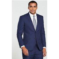 Skopes Melville Check Jacket, Blue, Size 48, Length Regular, Men