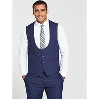 Skopes Melville Check Waistcoat, Blue, Size 38, Men