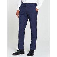 Skopes Melville Check Trouser, Blue, Size 44, Inside Leg Regular, Men