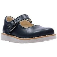 Clarks Crown Honor Girls Infant Shoes - Navy, Navy, Size 11.5 Younger