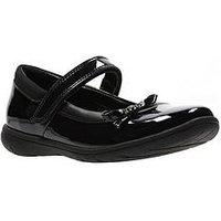Clarks Venture Star Patent Infant Shoe, Black Patent, Size 10 Younger