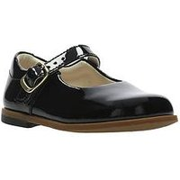 Clarks Drew Sky First Shoes - Black, Black Patent, Size 4 Younger