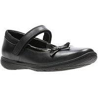 Clarks Venture Star Junior Shoes - Black, Black, Size 1 Older