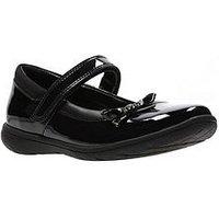 Clarks Venture Star Patent Junior Shoe, Black Patent, Size 4 Older