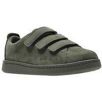 Clarks Nate Maze Infant Shoe, Olive Nubuck, Size 11.5 Younger