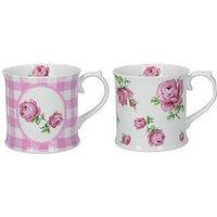 Creative Tops Katie Alice Vintage Roses Tankard Mugs - Set Of 2