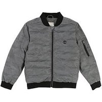 Timberland Boys Reflective Print Jacket, Silver, Size Age: 16 Years