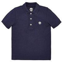 Timberland Boys Classic Short Sleeve Polo, Navy, Size 5 Years