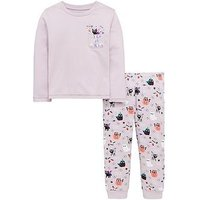 Mini V by Very Halloween Cat Sequin Pyjamas - Pink, Pink, Size Age: 9-12 Months, Women