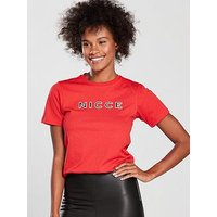 NICCE Shadow T-shirt - Red , Red, Size M, Women