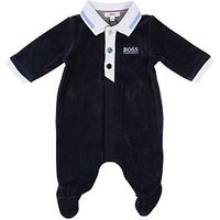 BOSS Baby Boys Sleepsuit Gift Box, Navy, Size 6 Months