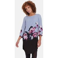 Joules Lyris Dress With Full Sleeves, Print, Size 12, Women