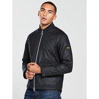 Barbour International Injection Wax Jacket, Black, Size S, Men