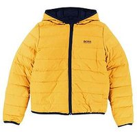 BOSS Boys Reversible Padded Jacket, Navy, Size Age: 6 Years