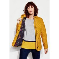 Joules Newdale Quilted Coat - Caramel, Caramel, Size 8, Women