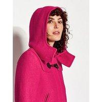 Joules Woolsdale Hooded Coat - Pink, Raspberry, Size 12, Women